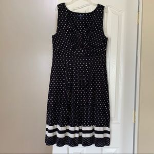 LANDS END Fit & Flare Sleeveless Dress M Size